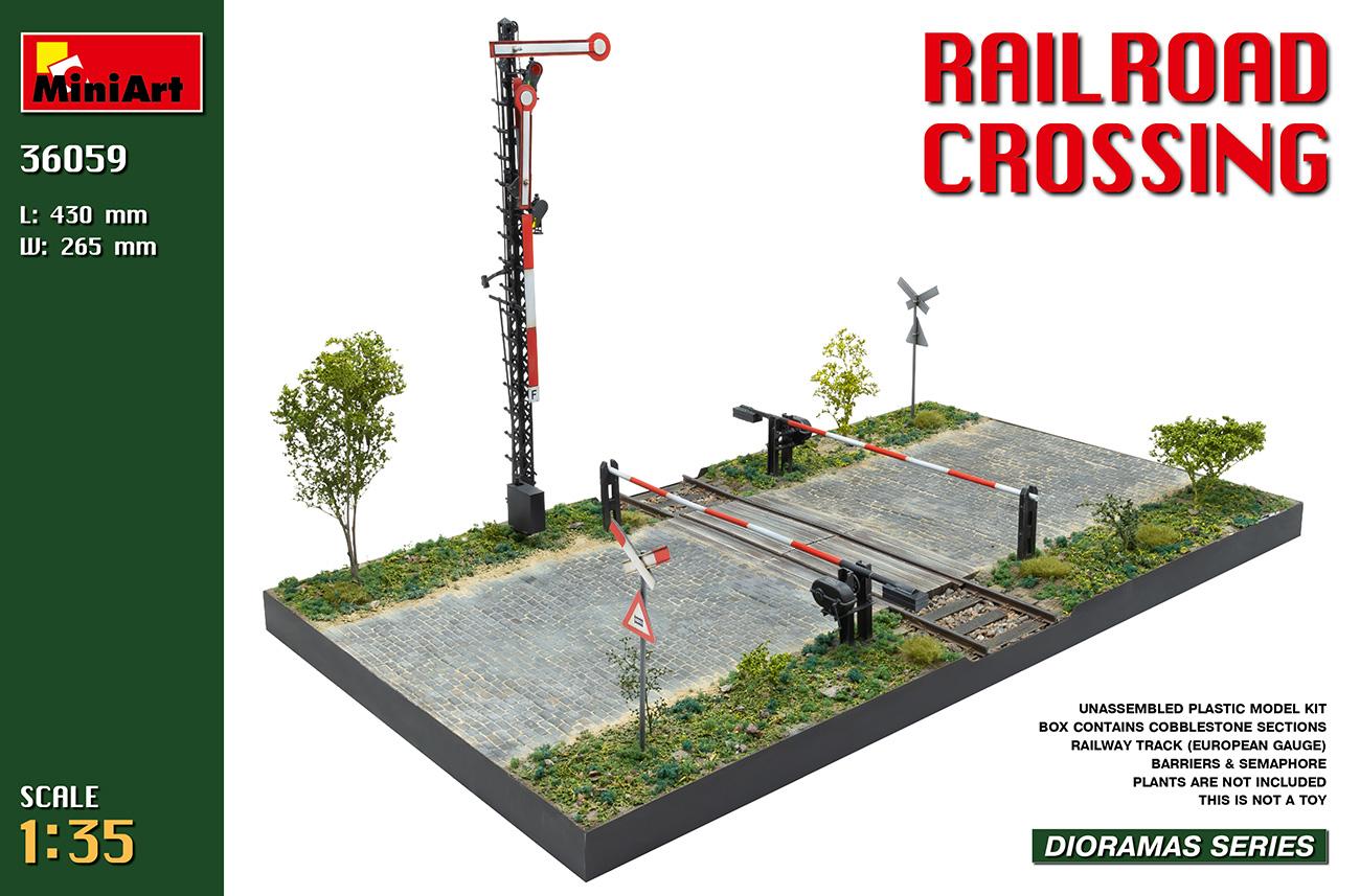 MiniArt 1/35 Railroad Crossing