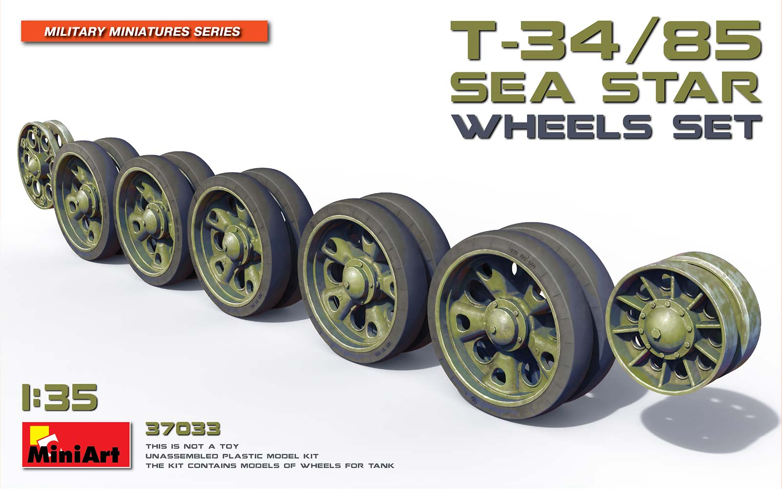 "MiniArt T-34/85 ""Sea Star"" Wheels Set"