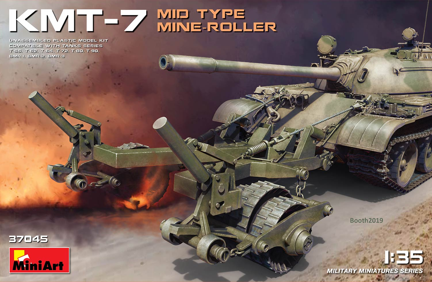 MiniArt KMT-7 Mid Type Mine-Roller