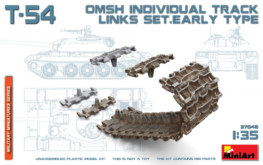MiniArt T-54 OMSh Individual Track Links Set.Early Type (1/35)