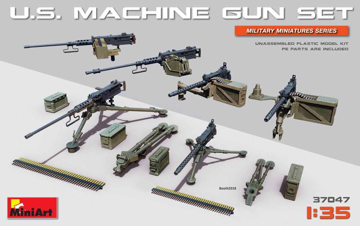 MiniArt U.S. Machine Gun Set (1/35)