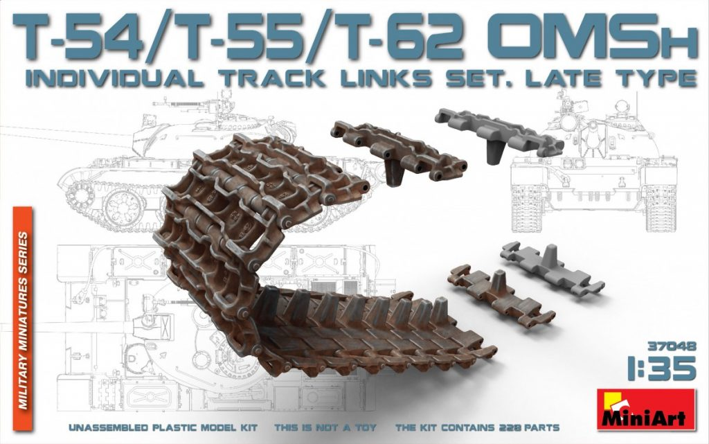 MiniArt T-54/T-55/T-62 OMSh Individual Track Links Set.Late Type (1/35)