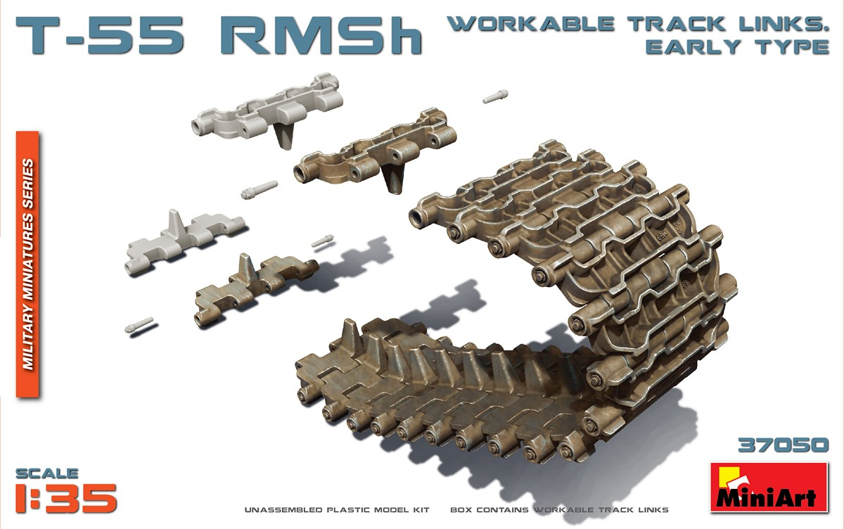 MiniArt T-55 RMSh Workable Track Links. Early Type (1/35)