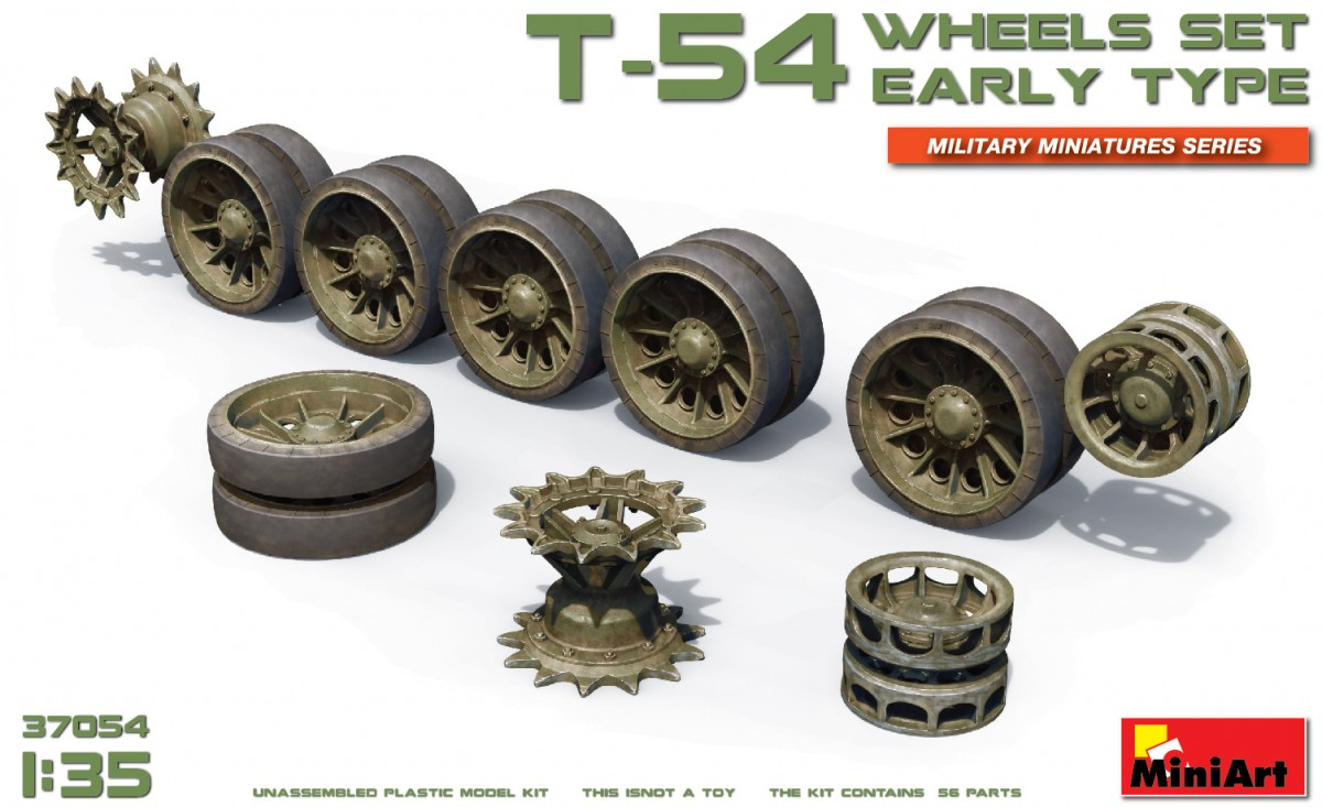 MiniArt T-54 Wheels Set. Early Type (1/35)