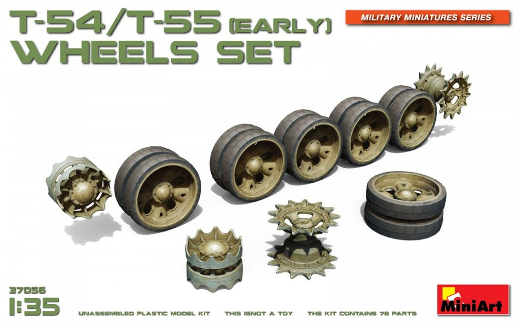 MiniArt T-54/T-55(Early) Wheels Set (1/35)