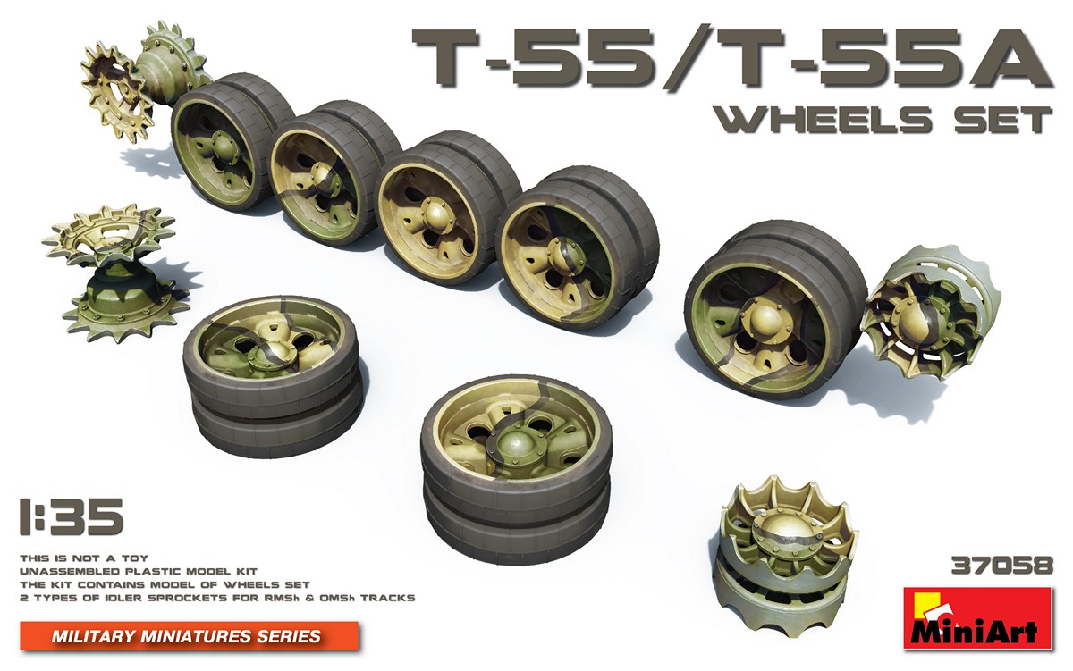 MiniArt T-55/T-55A Wheels Set (1/35)