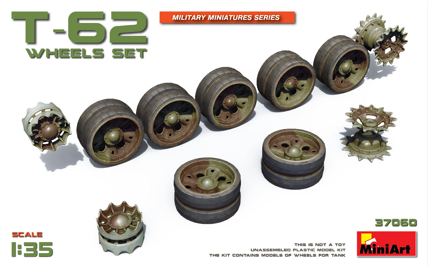 MiniArt T-62 Wheels Set (1/35)