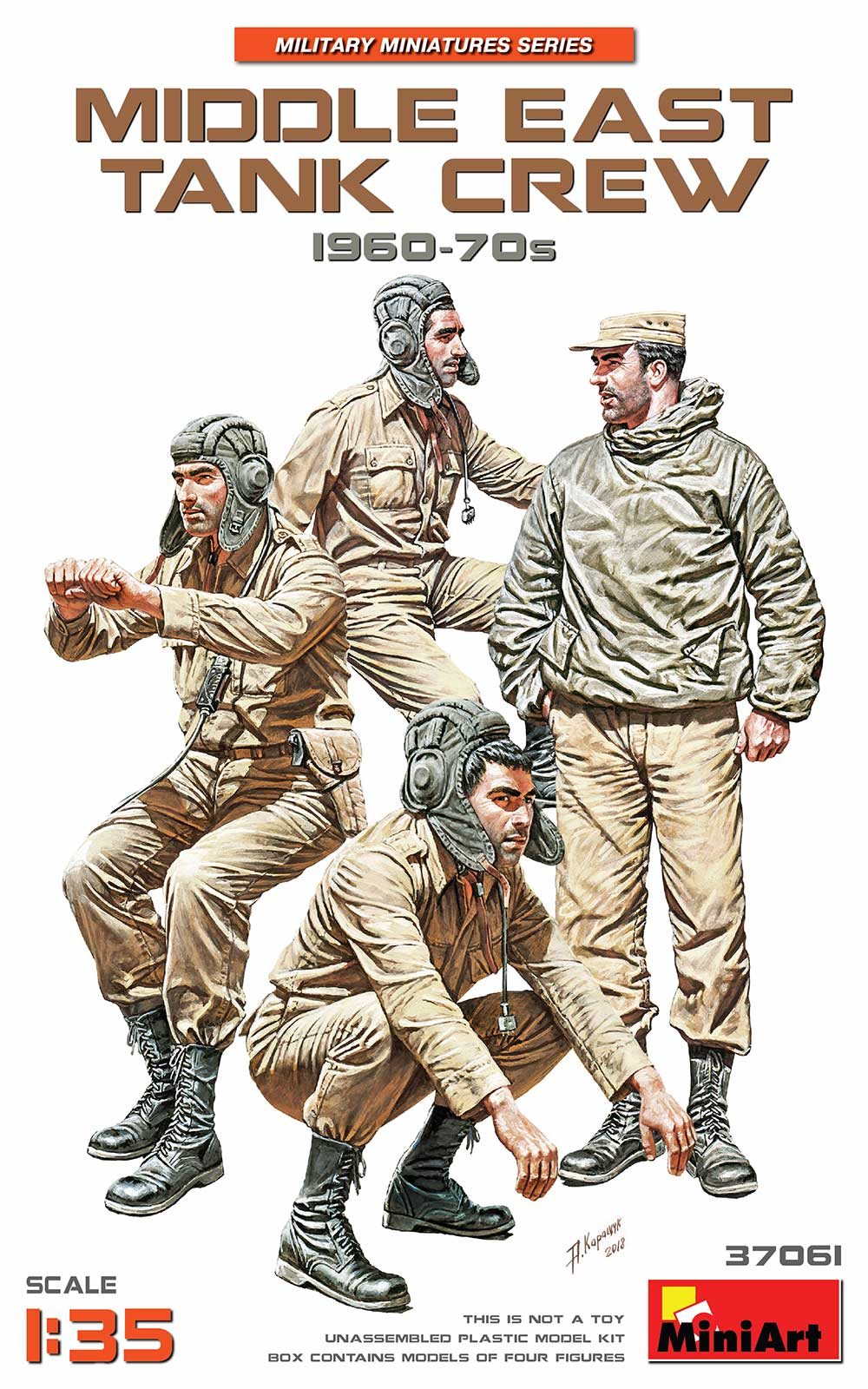 MiniArt Middle East Tank Crew 1960-70s