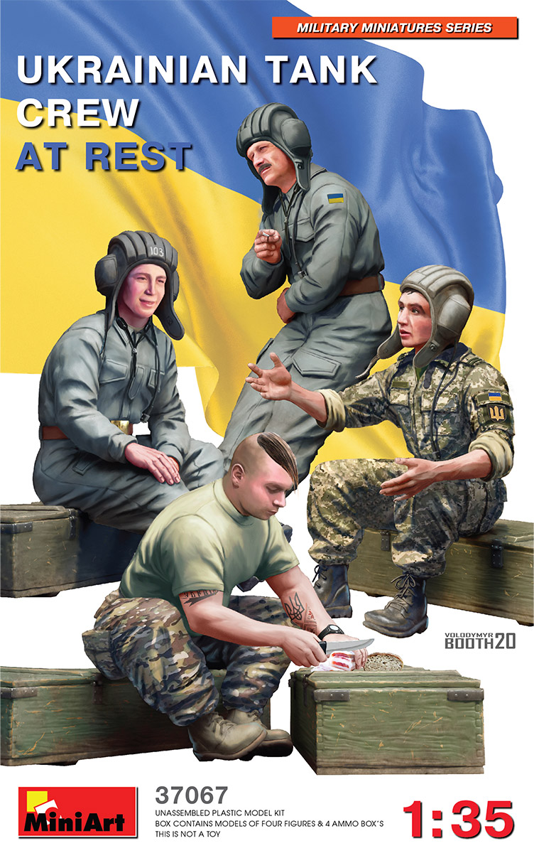 MiniArt Ukrainian Tank Crew At Rest 1/35 Scale
