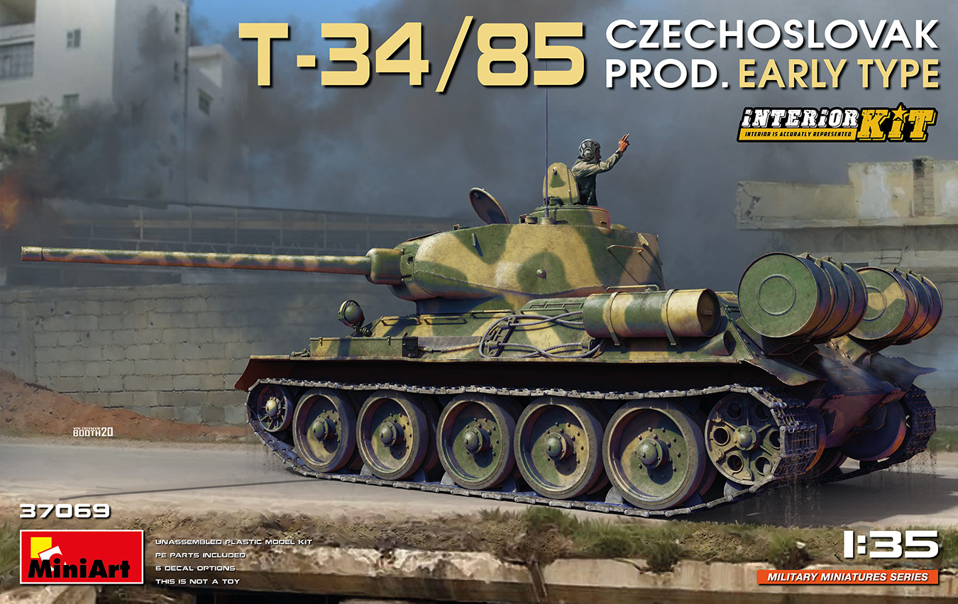 MiniArt T-34/85 Czechoslovak Prod. Early Type. Interior Kit