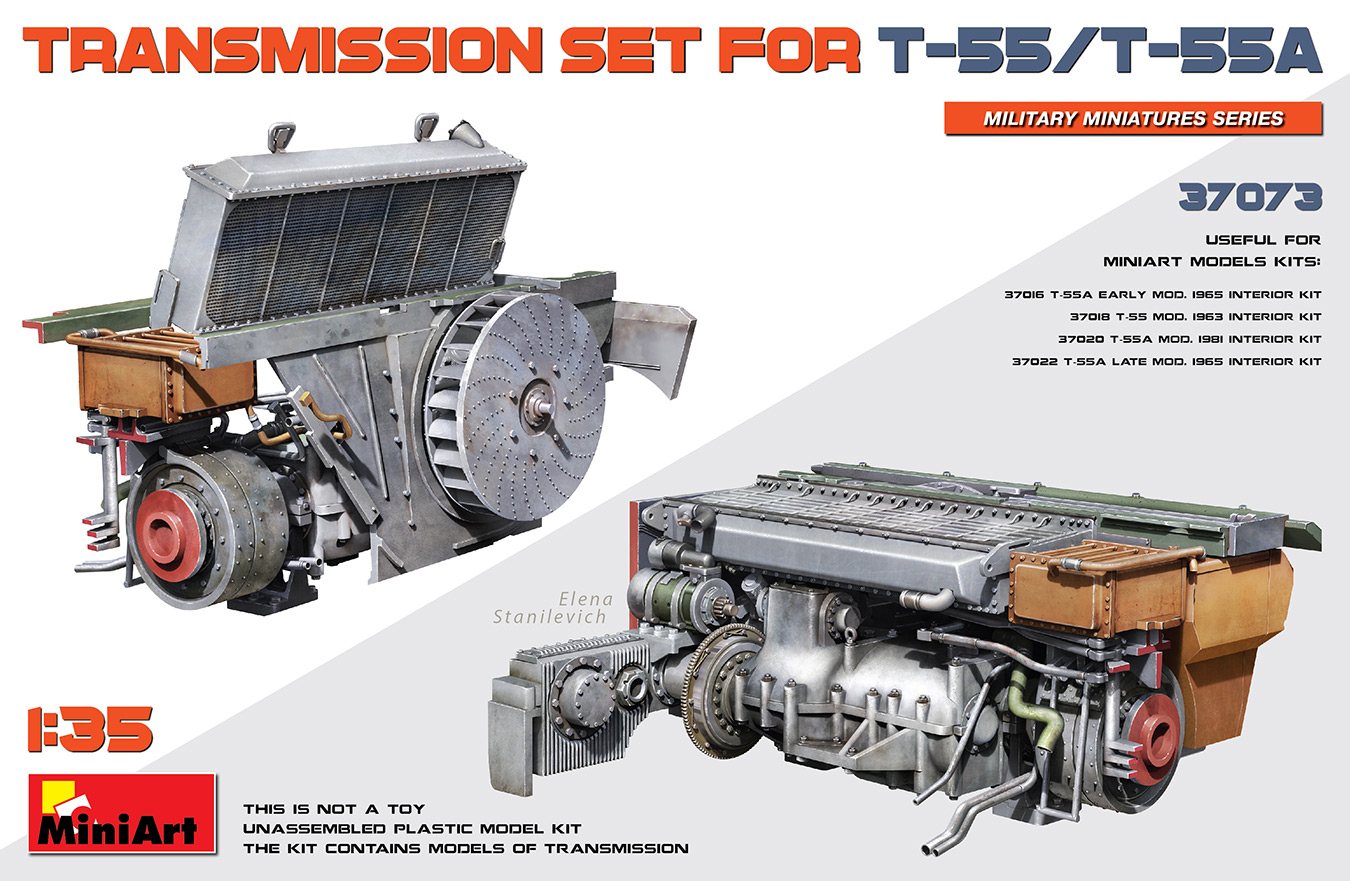 MiniArt 1/35 Transmission Set For T-55/T-55A