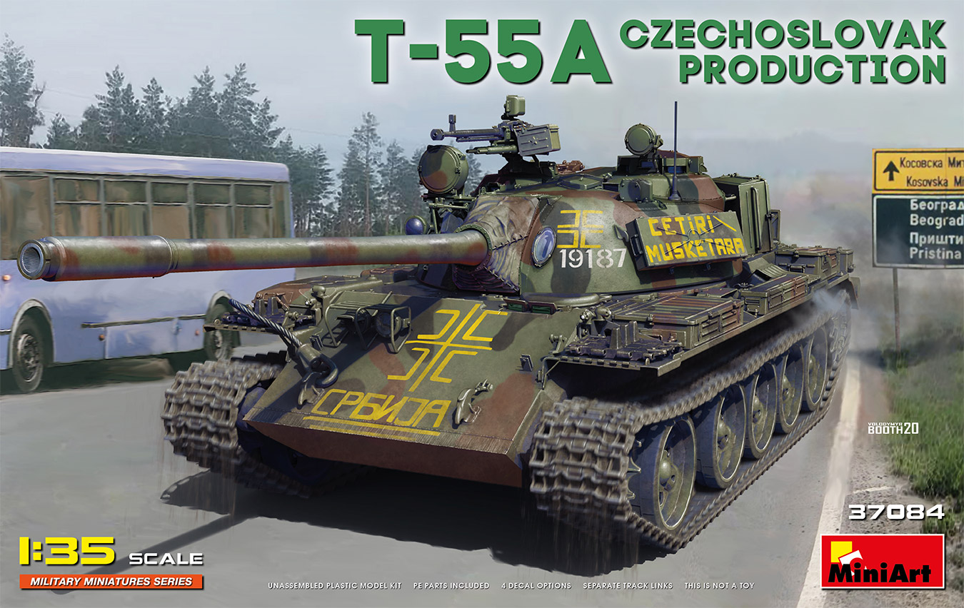 MiniArt 1/35 T-55A Czechoslovak Prod. Tank