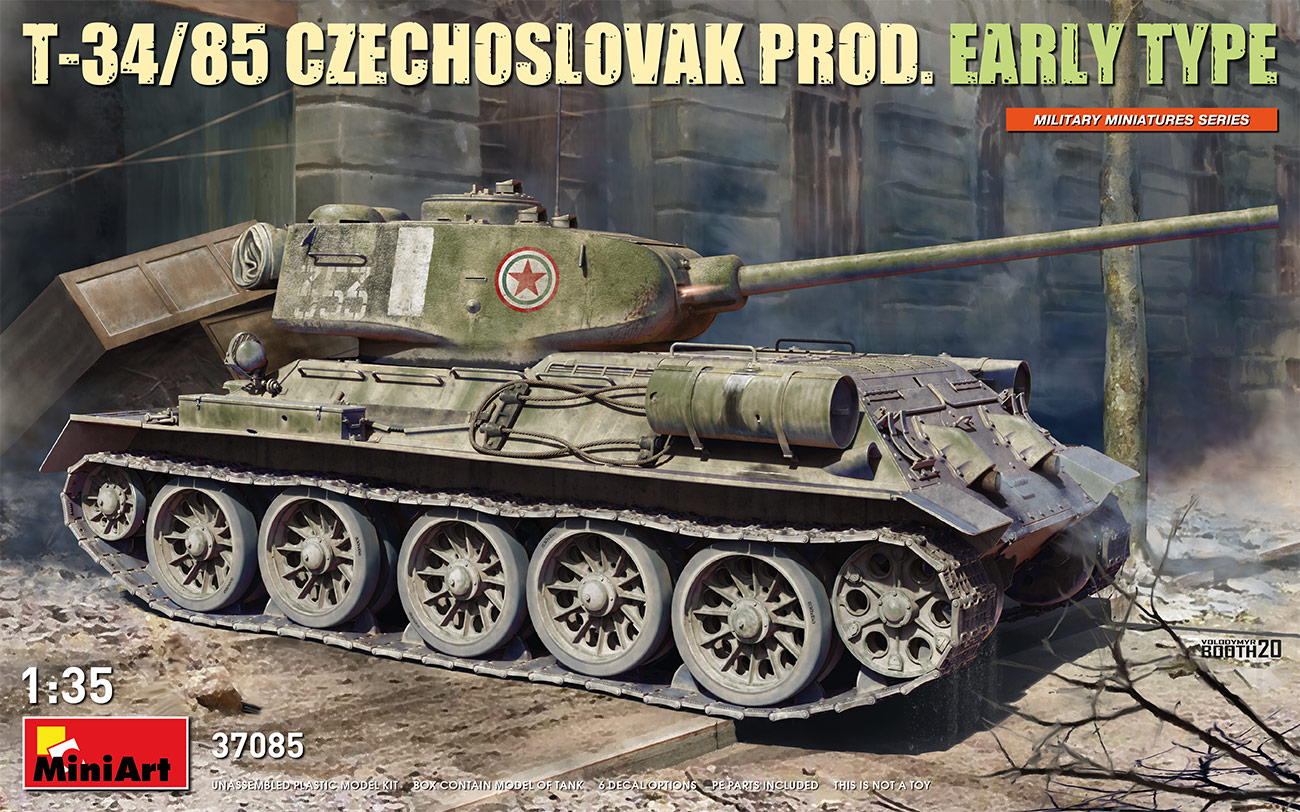 MiniArt 1/35 T-34-85 Czechoslovak Prod. Early Type Tank