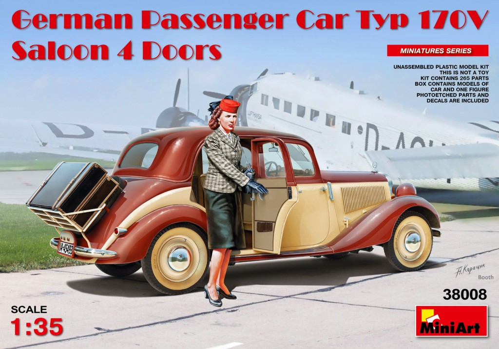 MiniArt German Passenger Car Typ 170V.Saloon 4 Doors (1/35)
