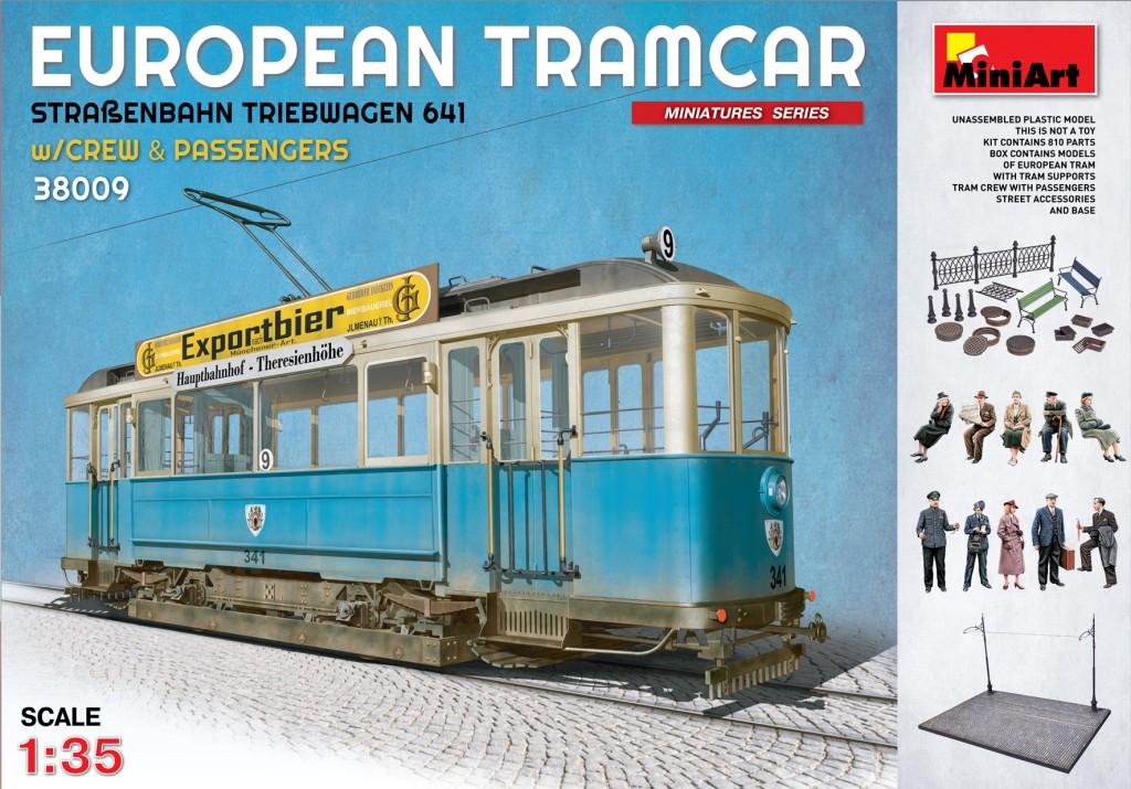 MiniArt European Tramcar (Strassenbahn Triebwagen 641) with Crew & Passengers (1/35)