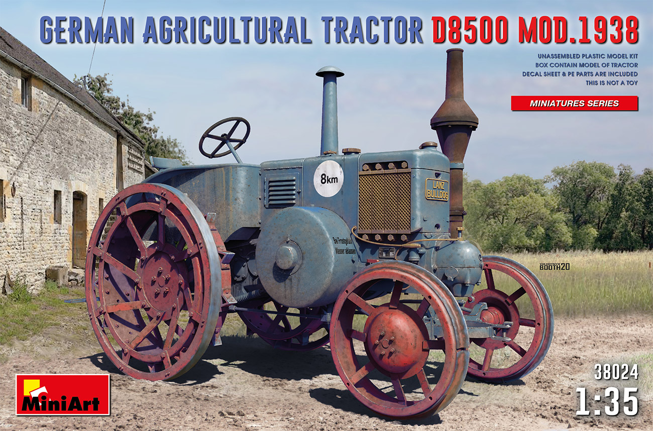 MiniArt German Agricultural Tractor D8500 Mod. 1938 1/35 Scale