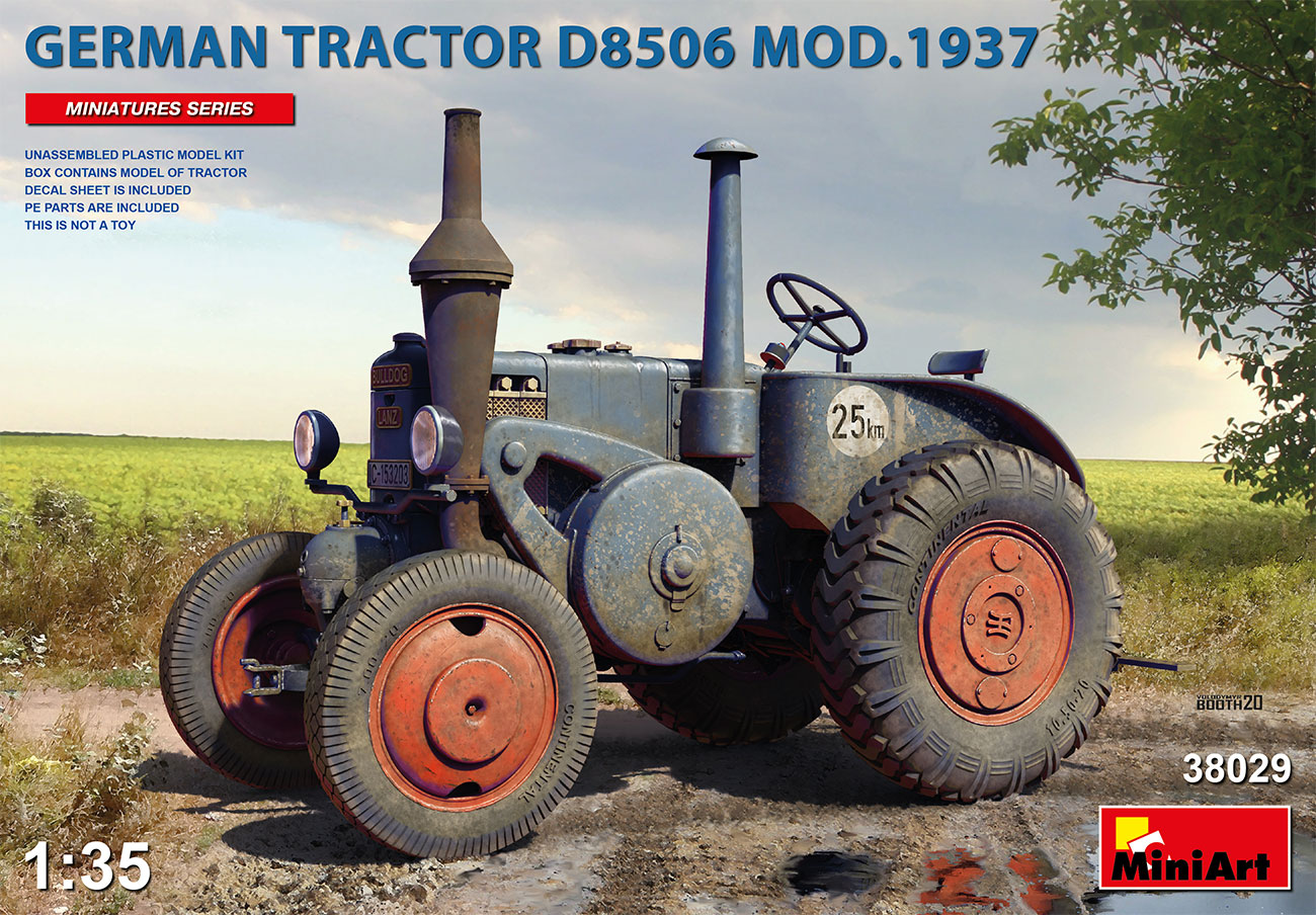 MiniArt 1/35 German Tractor D8506 Mod. 1937