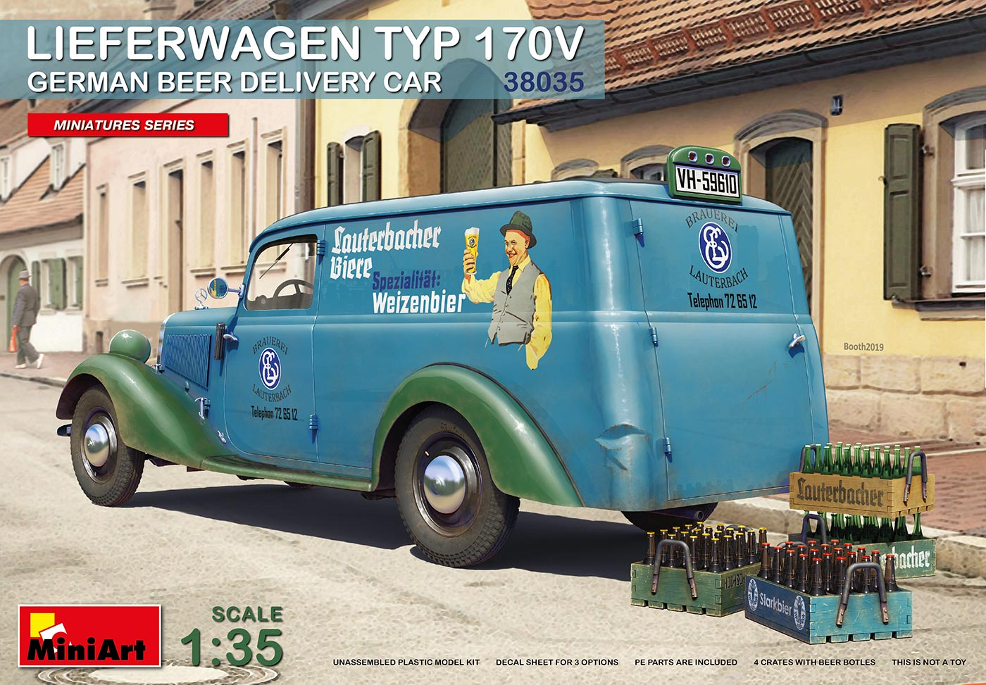 MiniArt Lieferwagen Typ 170V German Beer Delivery Car