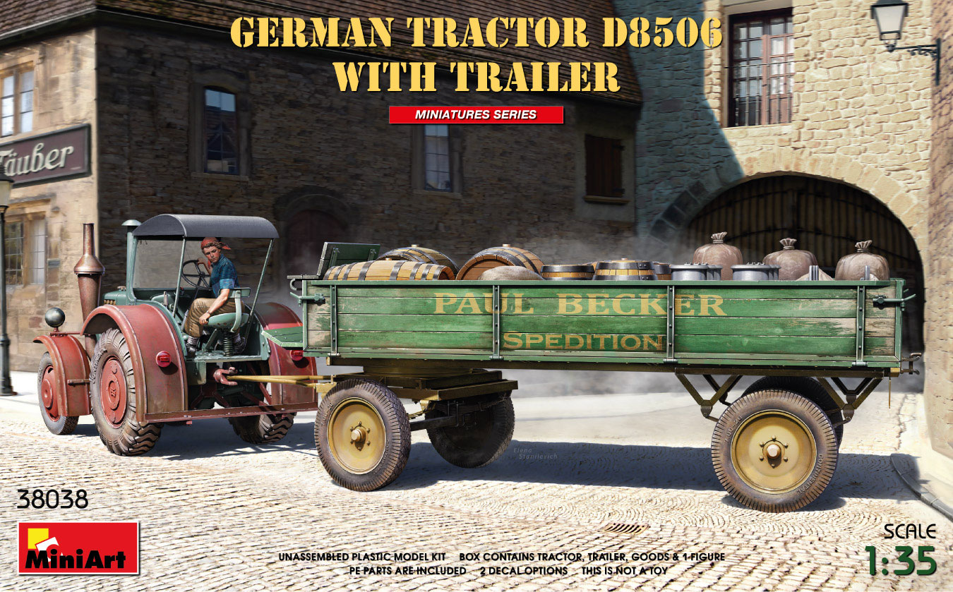 MiniArt 1/35 German Tractor D8506 with Trailer