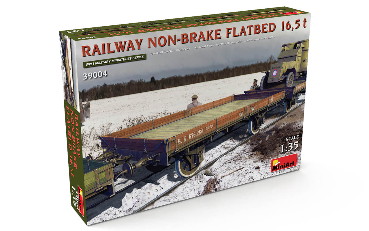 MiniArt Railway Non-brake Flatbed 16,5 t