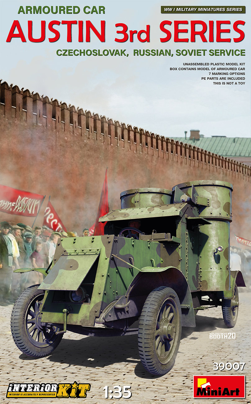 MiniArt 1/35 Austin Armoured Car 3rd Series, Czechoslovak-Russian-Soviet Service, Interior Kit