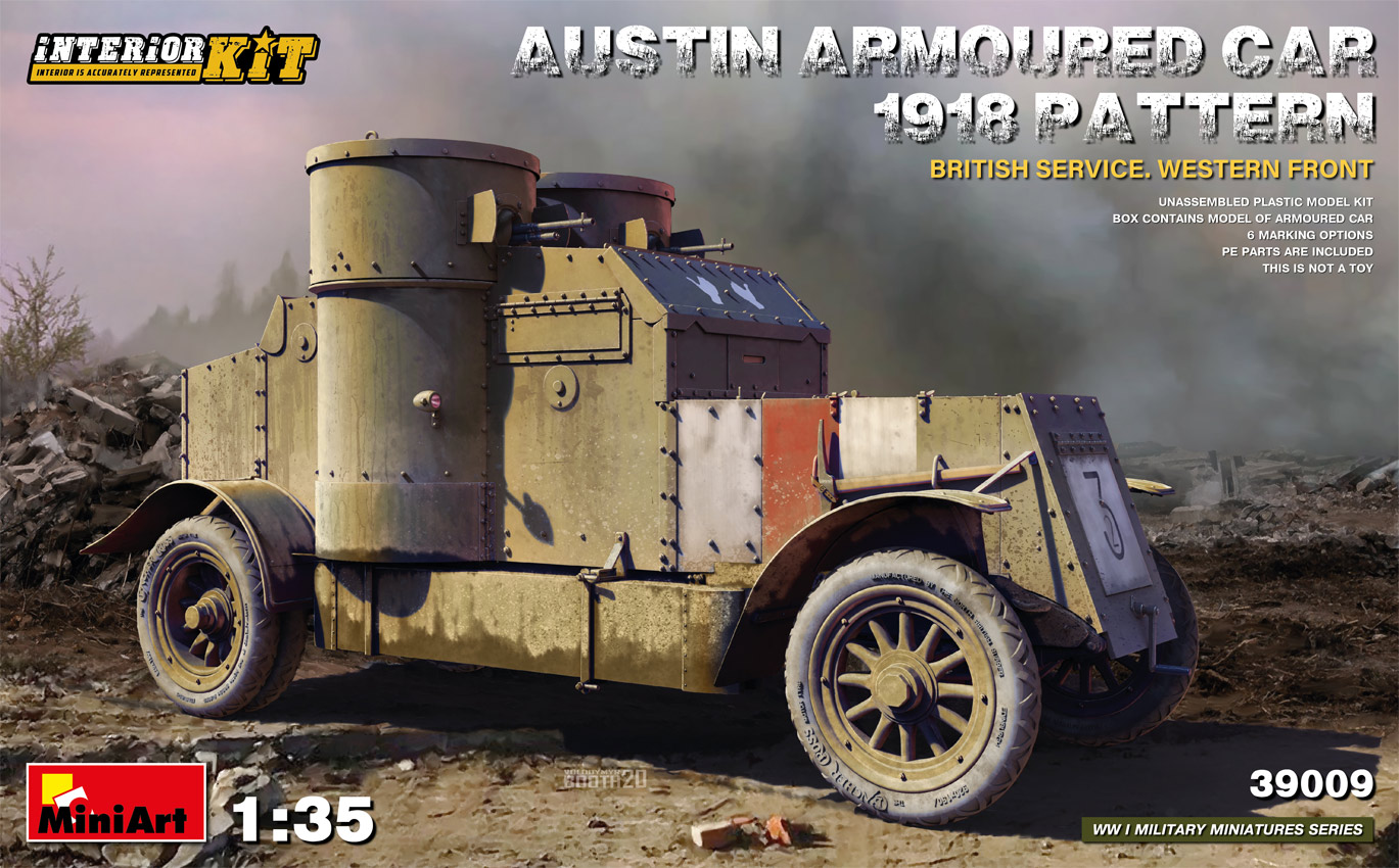 MiniArt 1/35 Austin Armoured Car 1918 Pattern. British Service. Western Front . Interior Kit