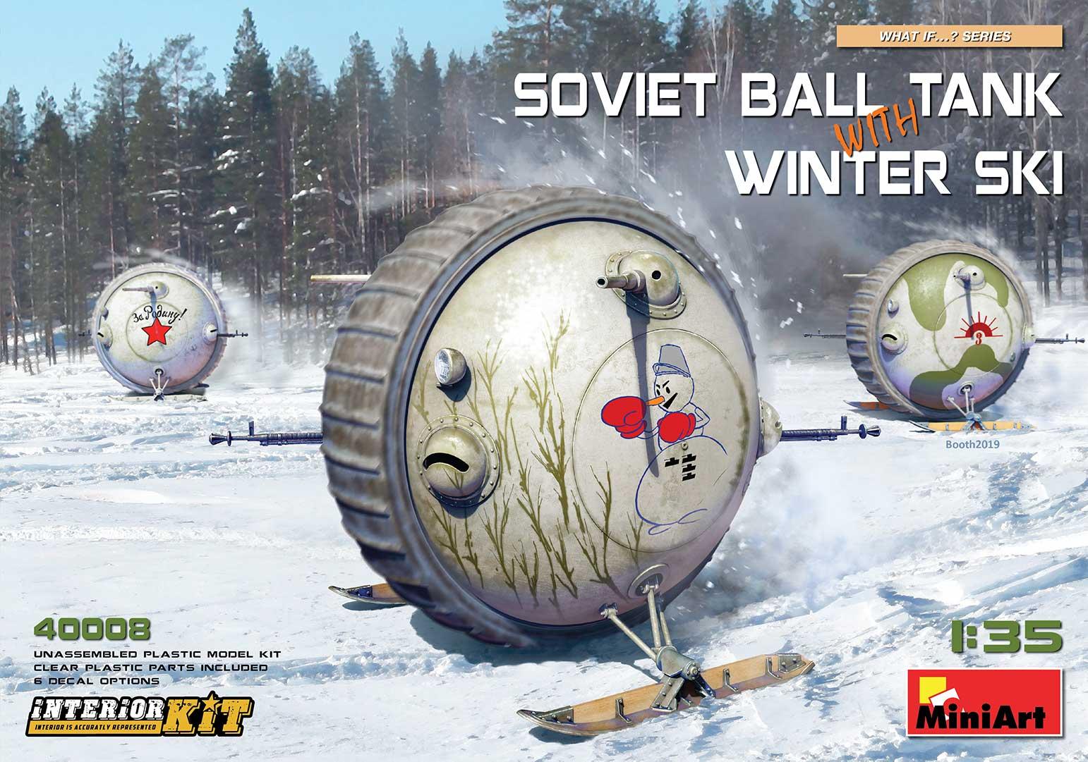 MiniArt 1/35 Soviet Ball Tank with Winter Ski. Interior Kit