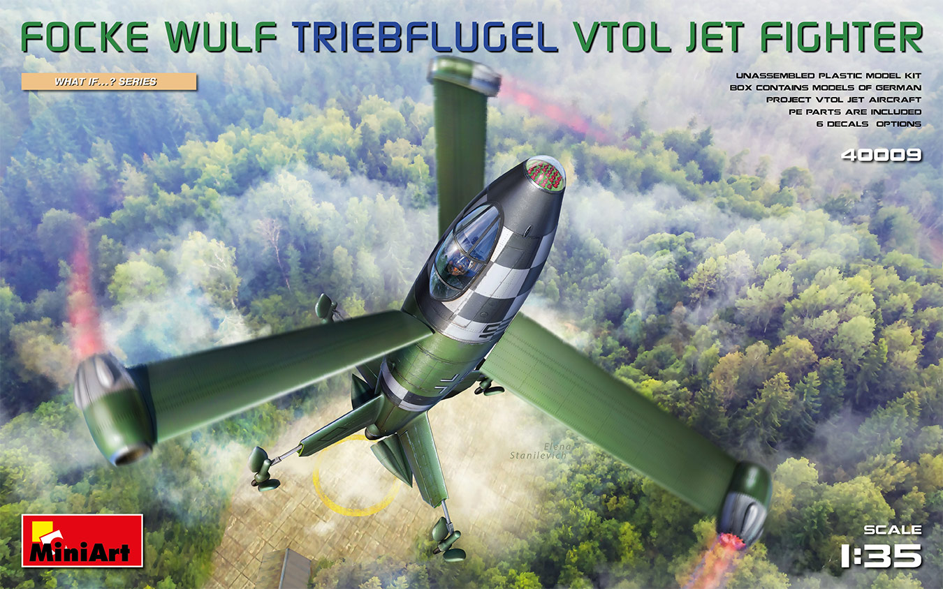 MiniArt Focke Wulf Triebflugel (VTOL) Jet Fighter