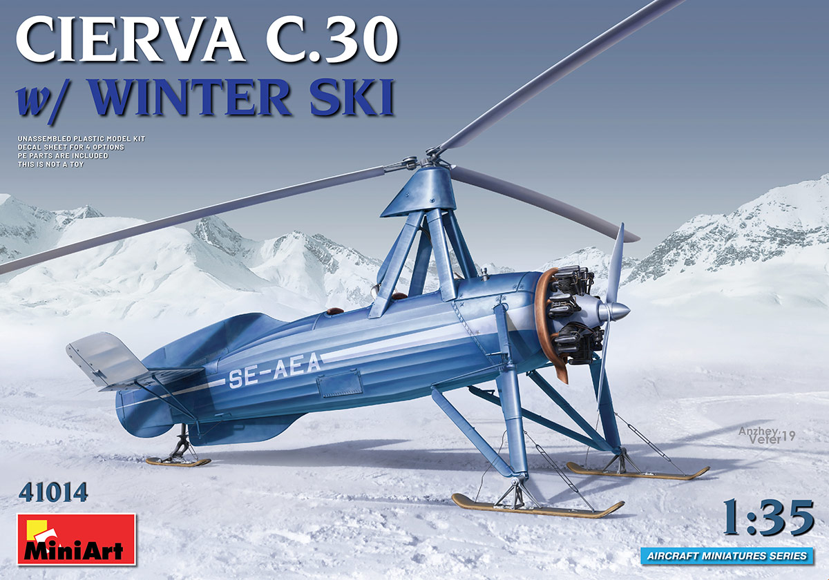MiniArt Cierva C.30 with Winter Ski