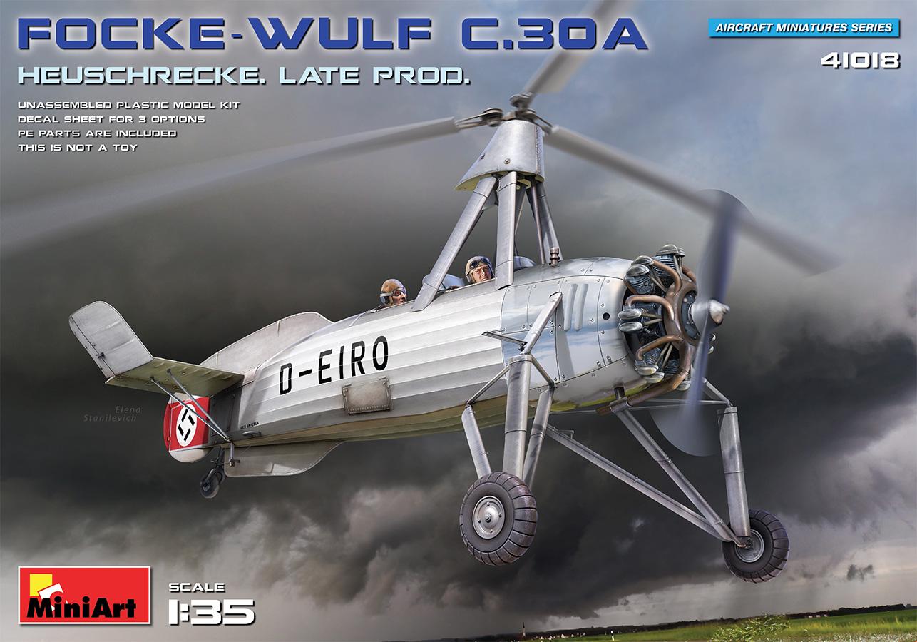 MiniArt 1/35 Focke-Wulf FW C.30A Heuschrecke. Late Prod Aircraft