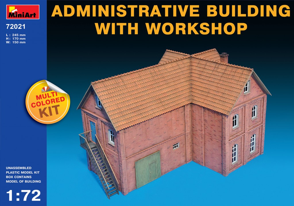 MiniArt Administrative Building with Workshop (1/72)
