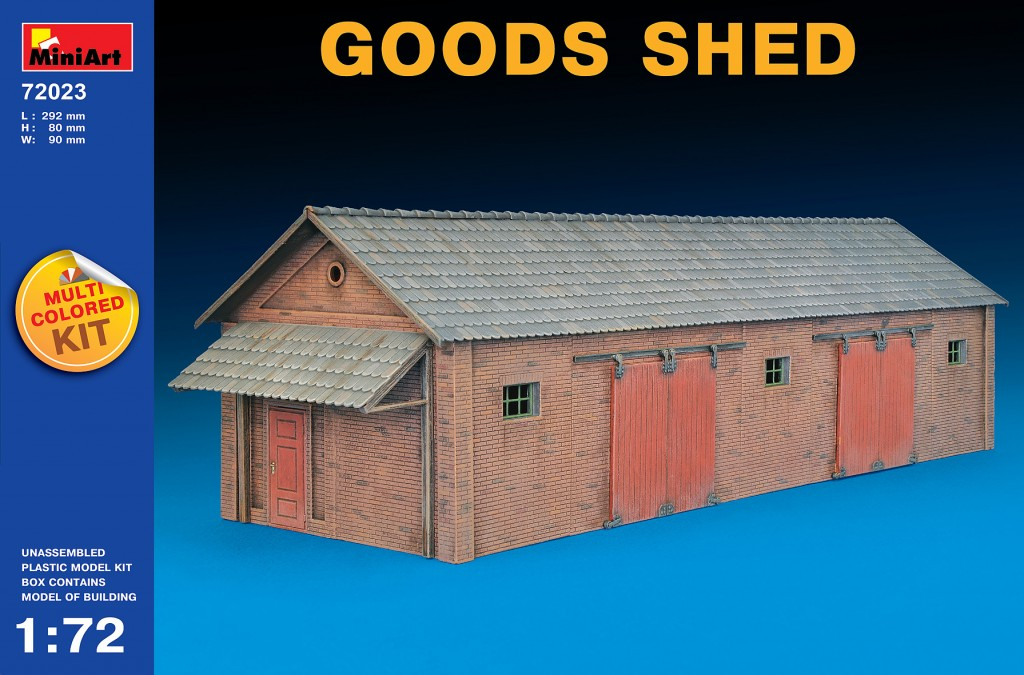 MiniArt Goods Shed (1/72)