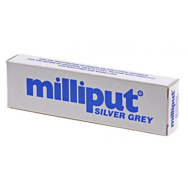 Milliput Silver Grey, 4 oz/pack