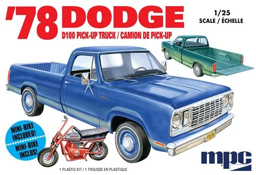 MPC 1/25 1978 Dodge D100 Custom Pickup (2T)