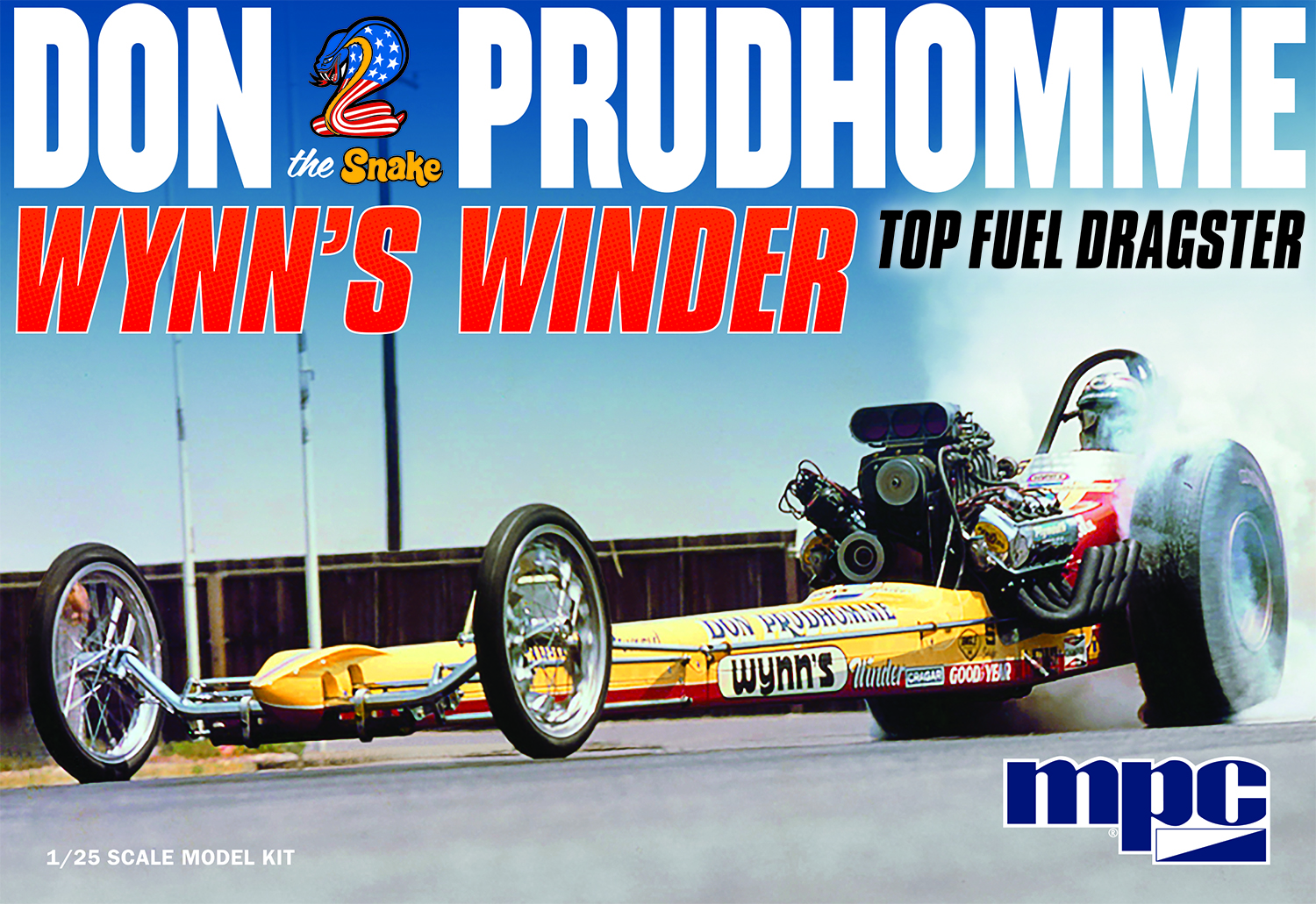 """MPC 1/25 Don """"Snake"""" Prudhomme Wynns Winder Dragster"""