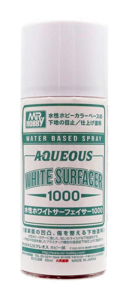 Mr Hobby AQUEOUS White Surfacer 1000 Spray