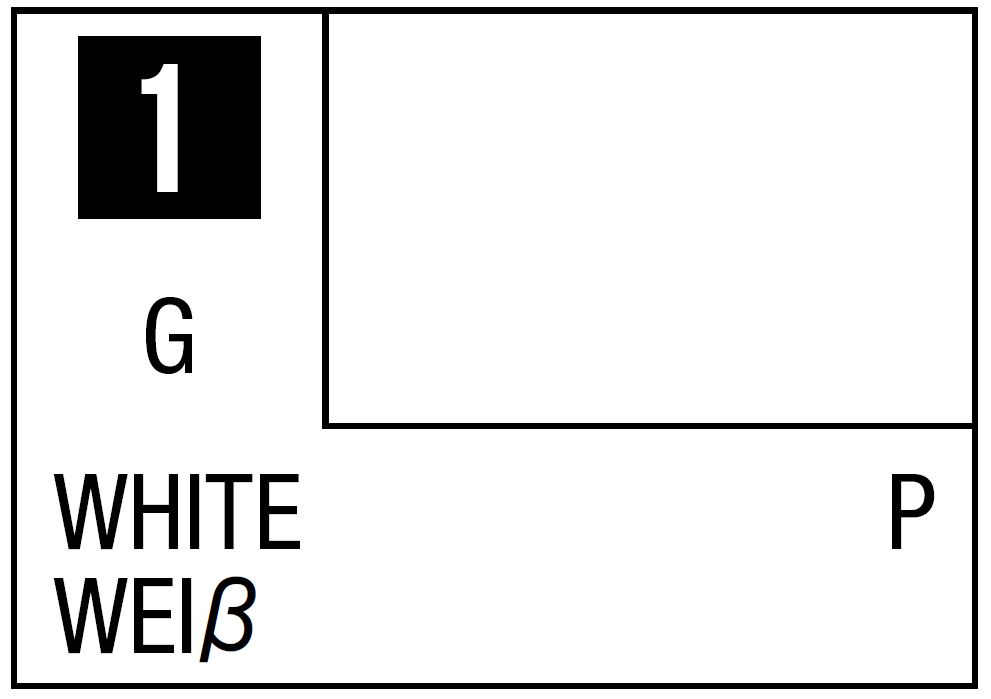 Mr Hobby Mr. Color 1 - White (Gloss/Primary) - 10ml