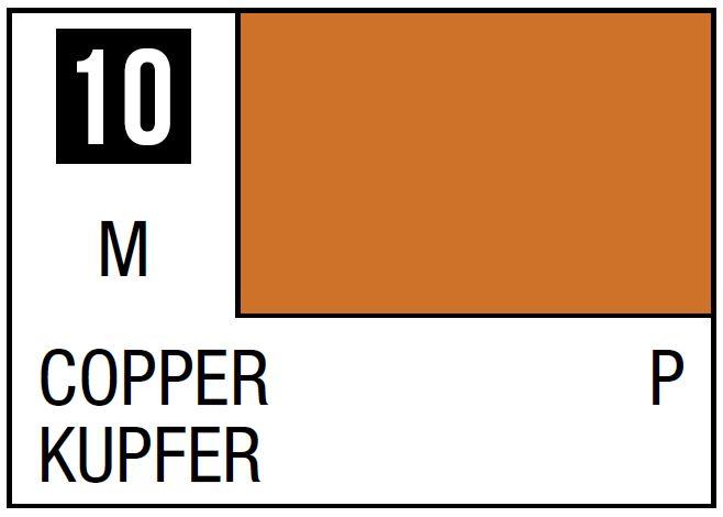 Mr Hobby Mr. Color 10 - Copper (Metallic/Primary) - 10ml