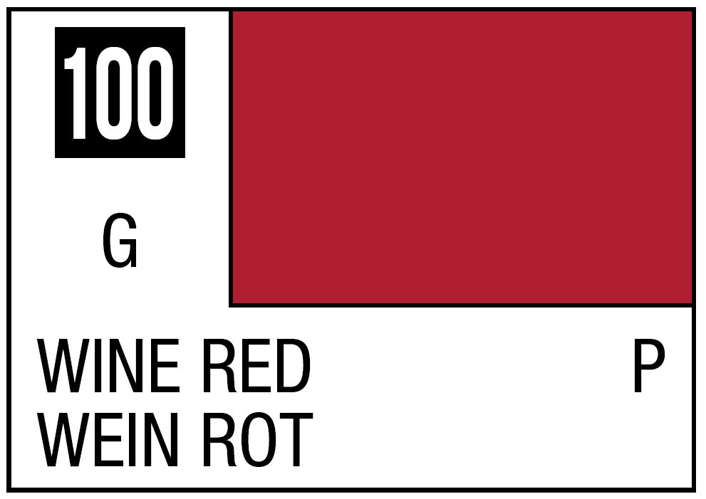 Mr Hobby Mr. Color 100 - Wine Red (Gloss/Primary) - 10ml