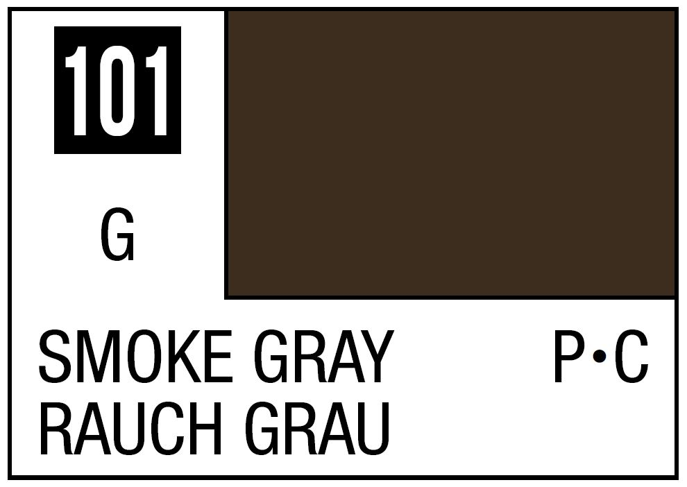 Mr Hobby Mr. Color 101 - Smoke Gray (Gloss/Primary Car) - 10ml
