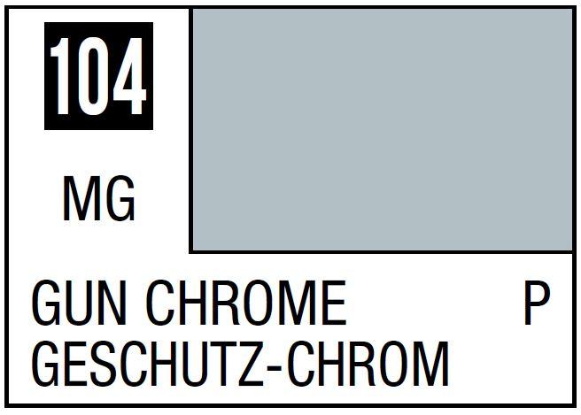 Mr Hobby Mr. Color 104 - Gun Chrome (Metallic Gloss/Primary) - 10ml