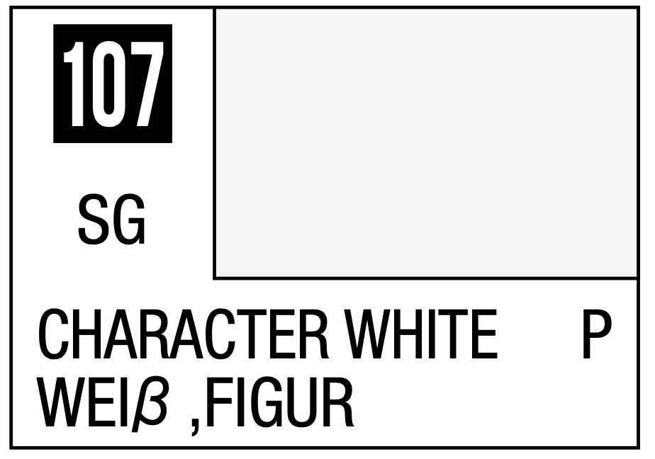 Mr Hobby Mr. Color 107 - Character White (Semi-Gloss) - 10ml