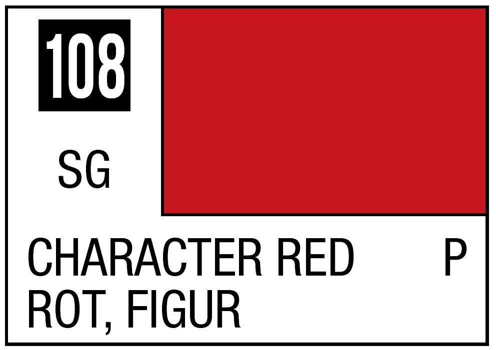 Mr Hobby Mr. Color 108 - Character Red (Semi-Gloss/Primary) - 10ml