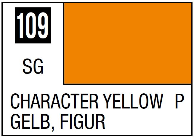 Mr Hobby Mr. Color 109 - Character Yellow (Semi-Gloss/Primary) - 10ml