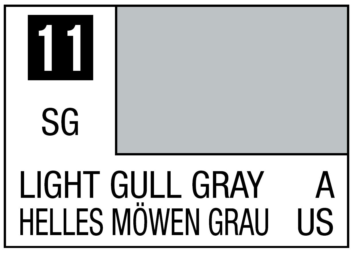 Mr Hobby Mr. Color 11 Light Gull Gray (Semi-Gloss) - 10ml