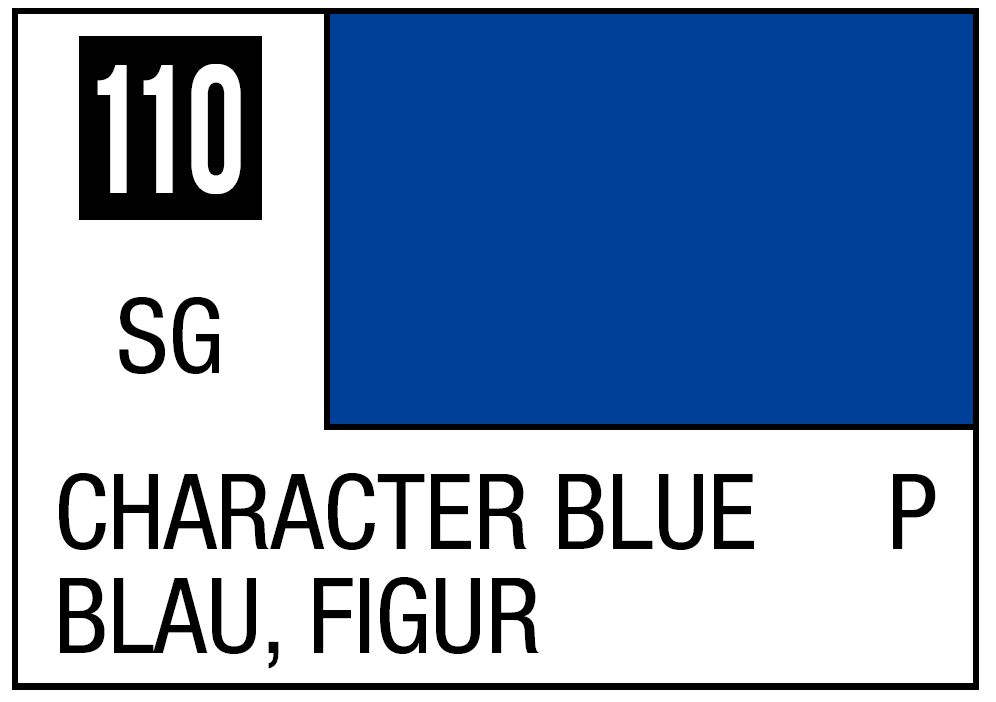 Mr Hobby Mr. Color 110 - Character Blue (Semi-Gloss/Primary) - 10ml