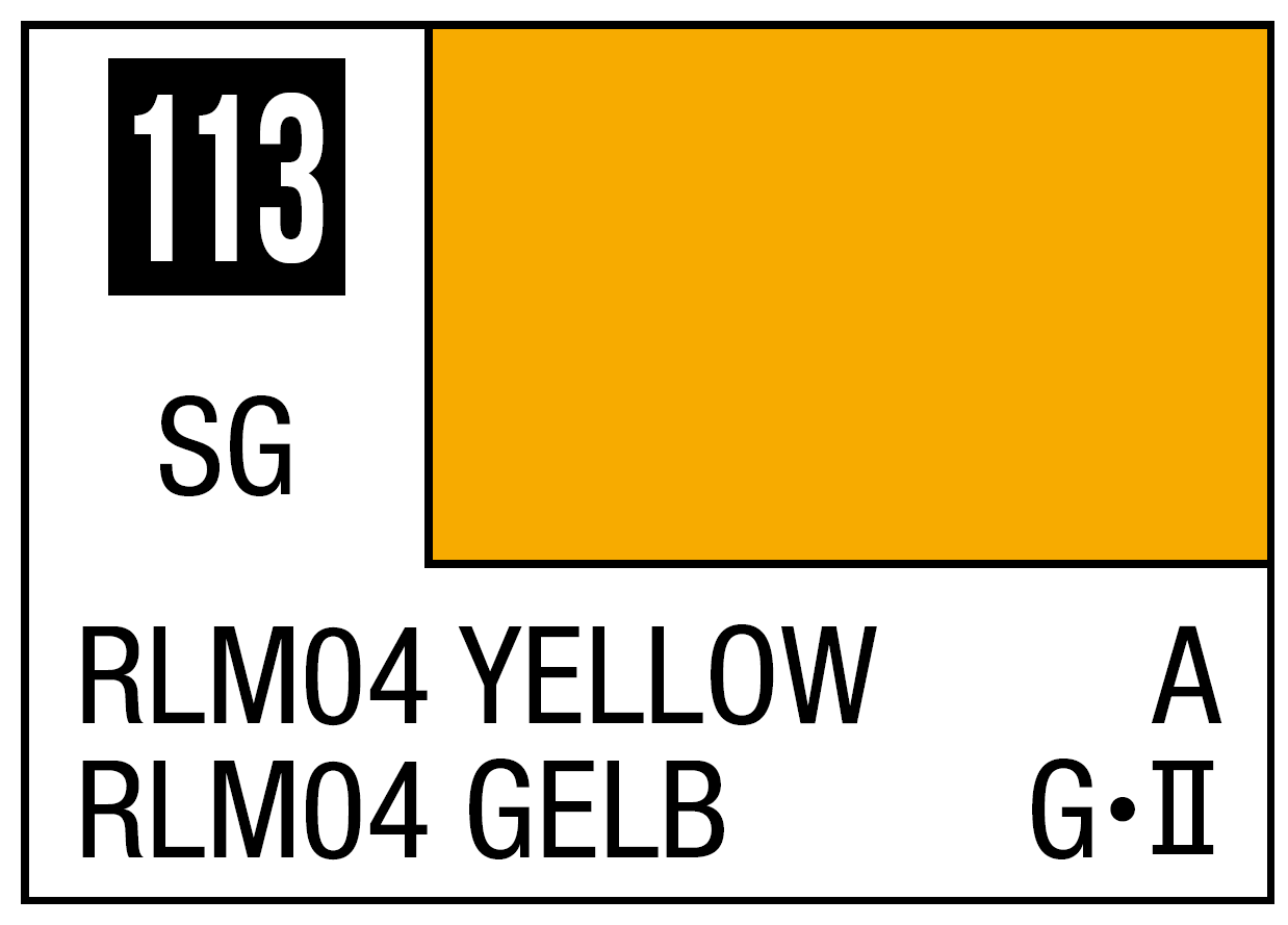 Mr Hobby Mr. Color 113 RLM04 Yellow (Semi-Gloss) - 10ml