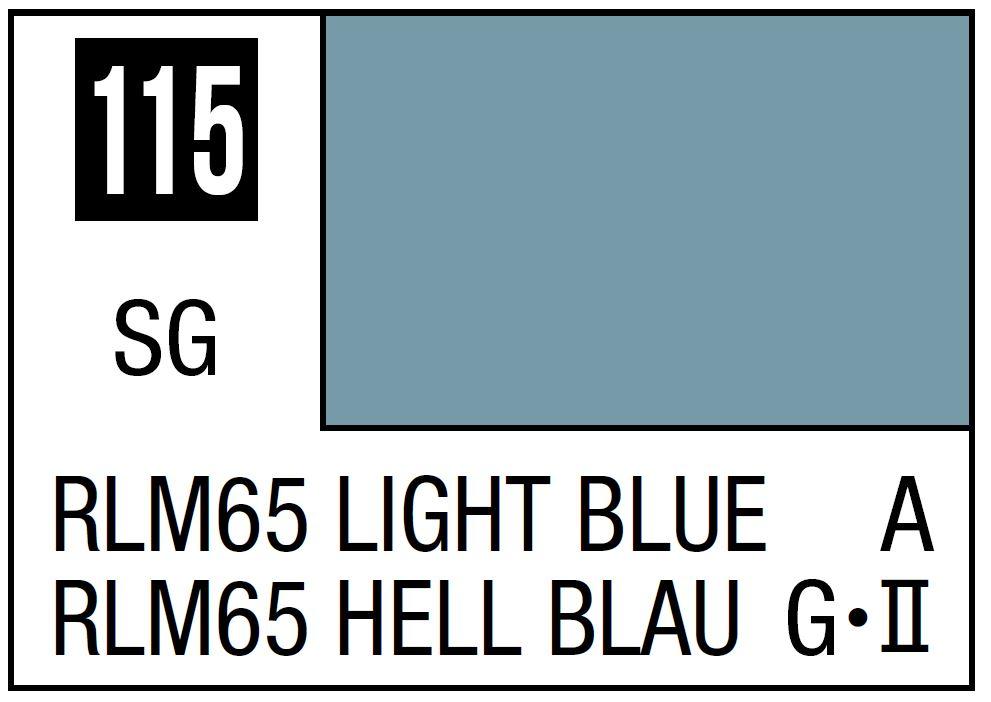 Mr Hobby Mr. Color 115 - RLM65 Light Blue (Semi-Gloss/Aircraft) - 10ml
