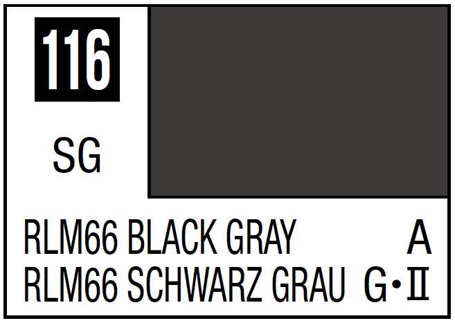Mr Hobby Mr. Color 116 - RLM66 Black Gray (Semi-Gloss/Aircraft) - 10ml