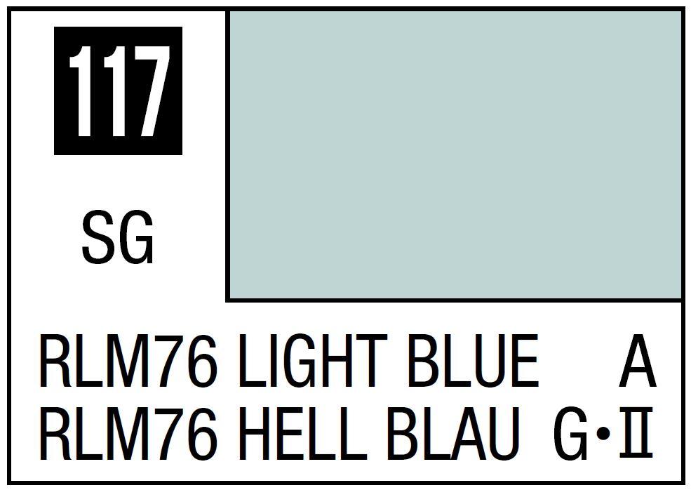 Mr Hobby Mr. Color 117 - RLM76 Light Blue (Semi-Gloss/Aircraft) - 10ml